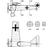 Fokker D.VIII blueprint