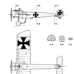 Fokker E.III blueprint