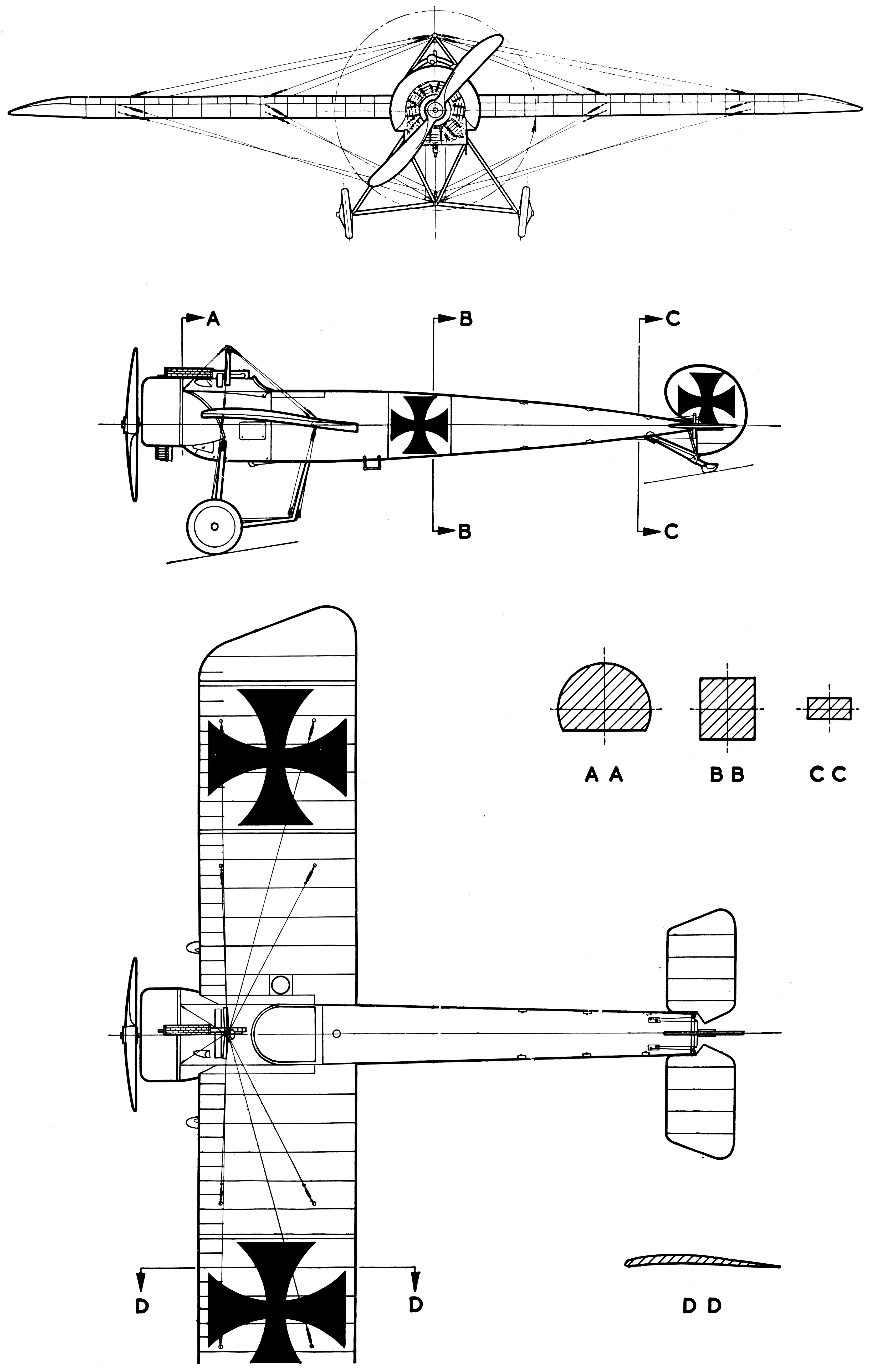 Fokker E.III blueprint