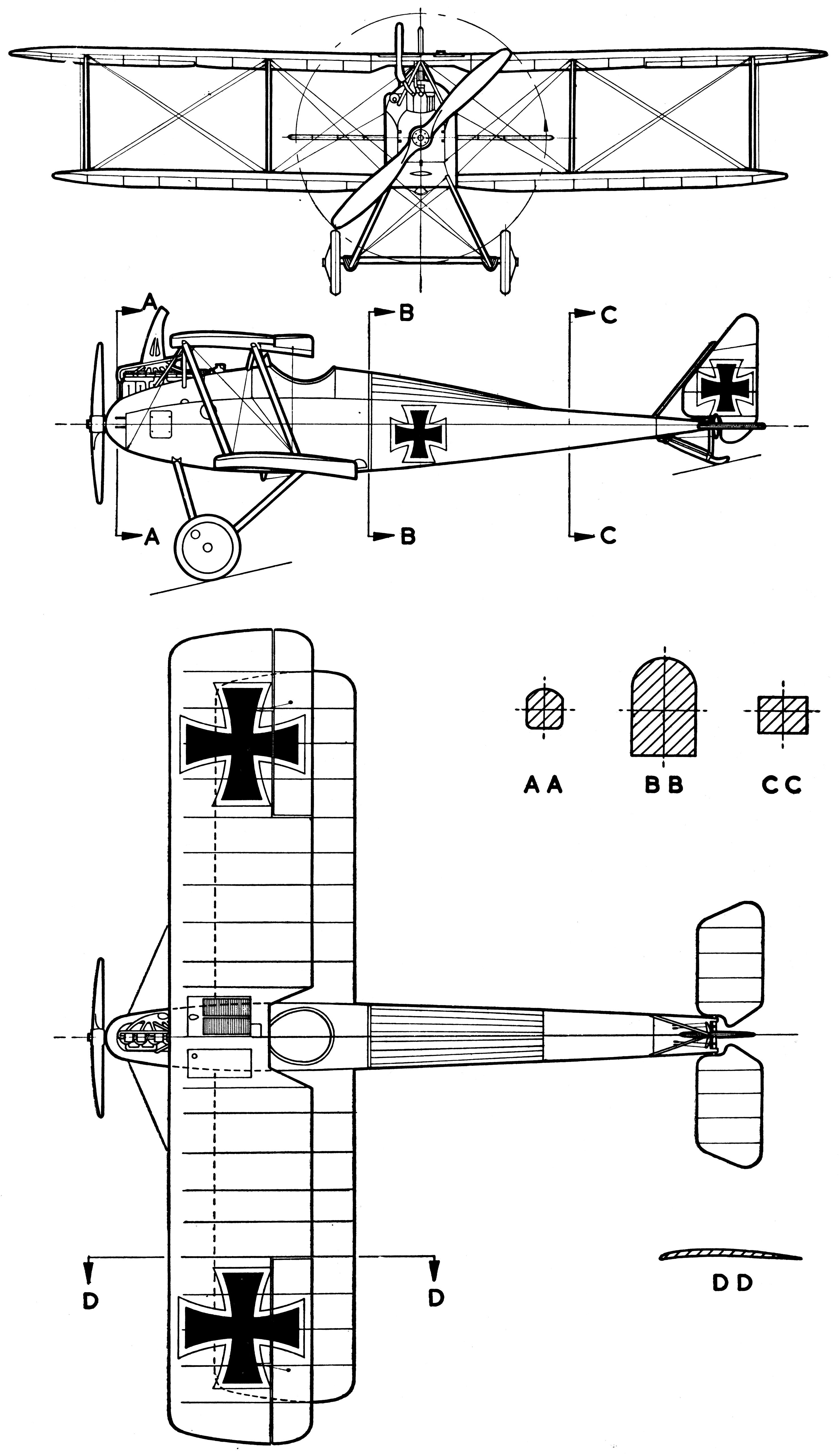 Halberstadt D.II blueprint