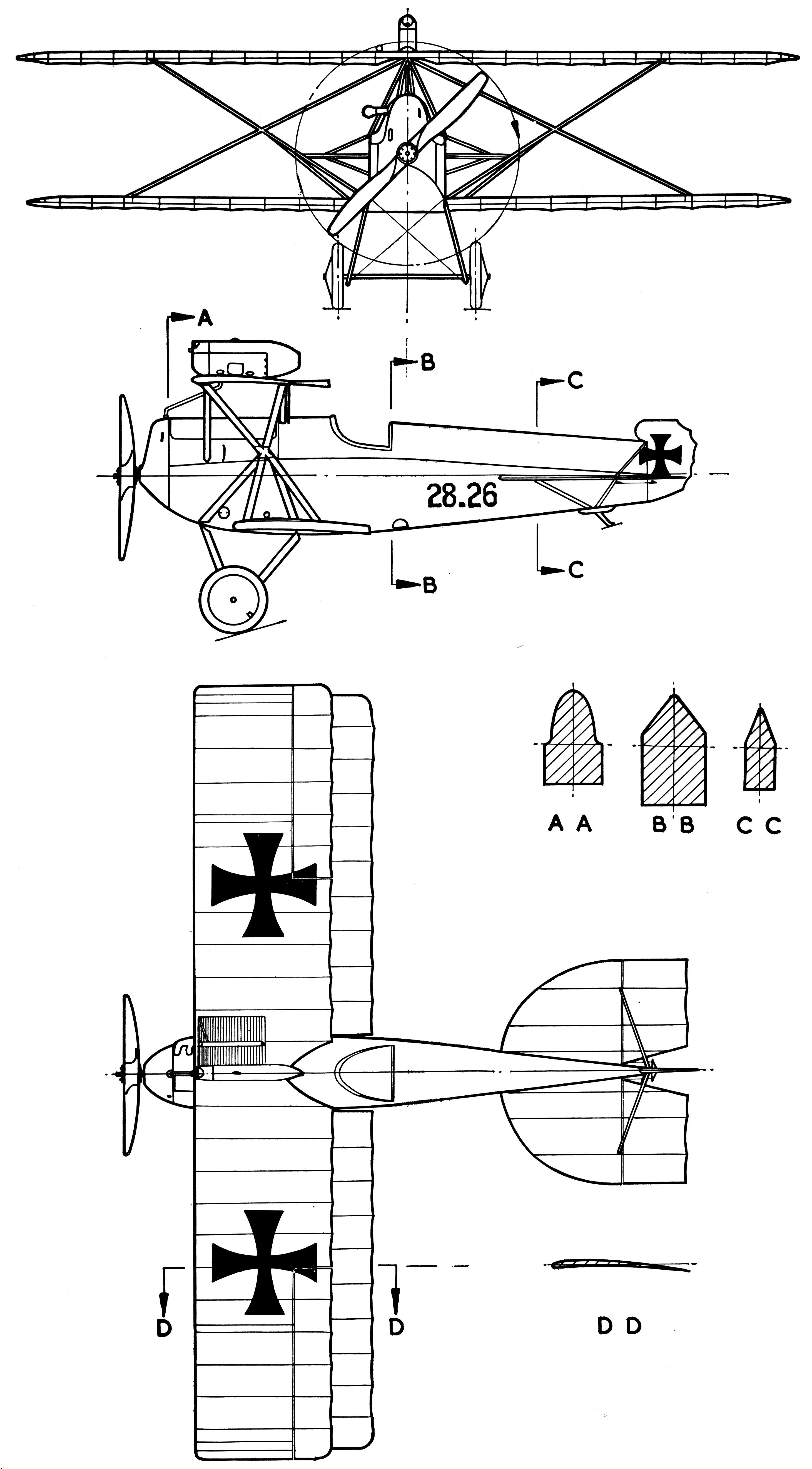 Hansa-Brandenburg D.I blueprint