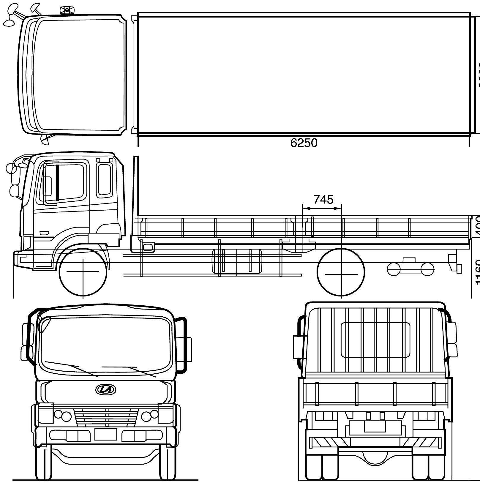 Hyundai Mega Truck blueprint