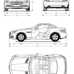 Mercedes-Benz SLK-Class blueprint