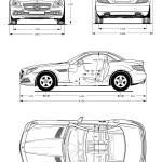 Mercedes-Benz SLK-Class blueprint