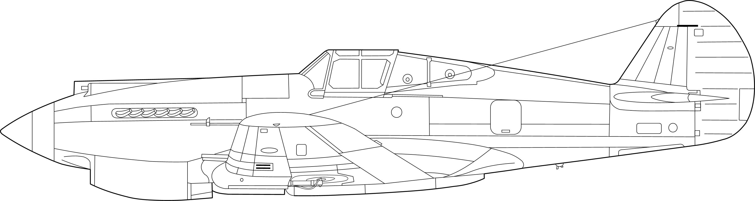 Curtiss P-40 Warhawk blueprint