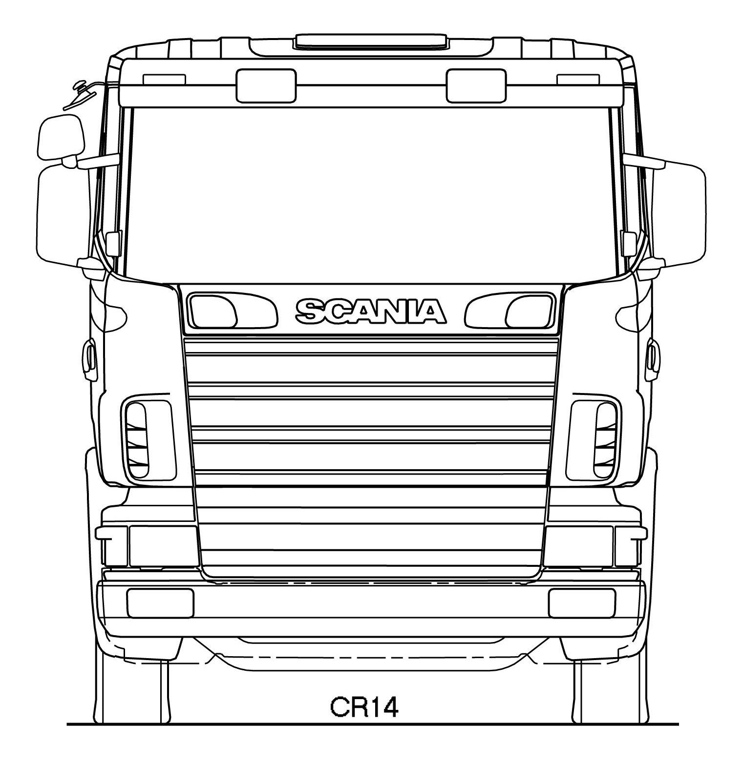 Scania CR blueprint
