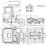 Scania CR blueprint