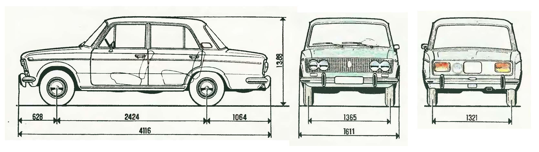 VAZ 2103 blueprint