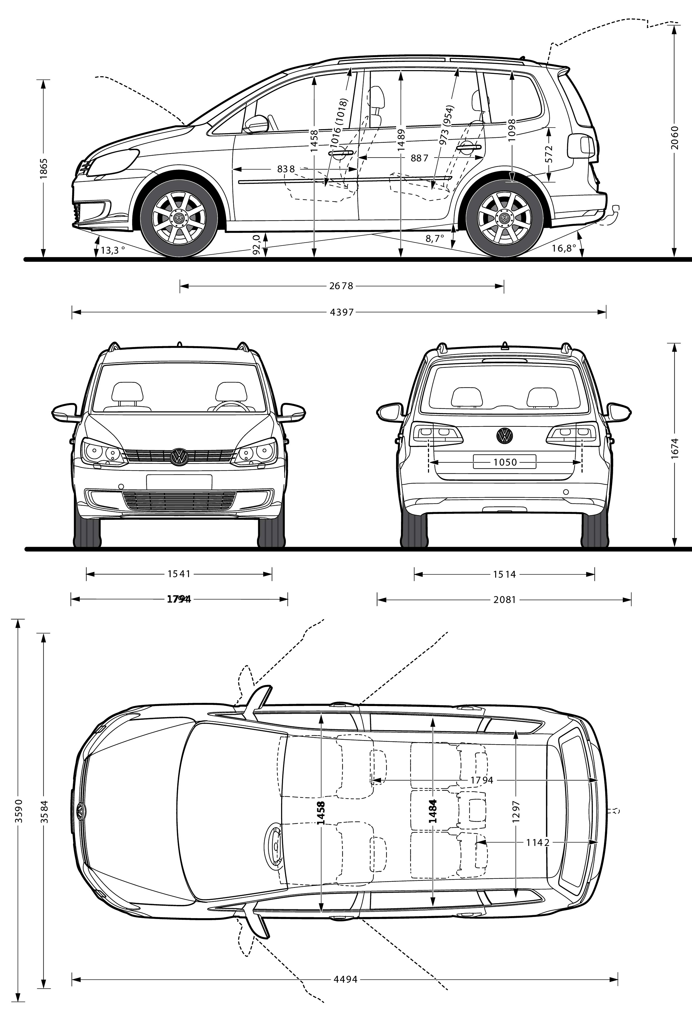 Volkswagen Touran blueprint