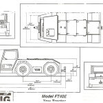 Aiport Tug Tow Tractor blueprint