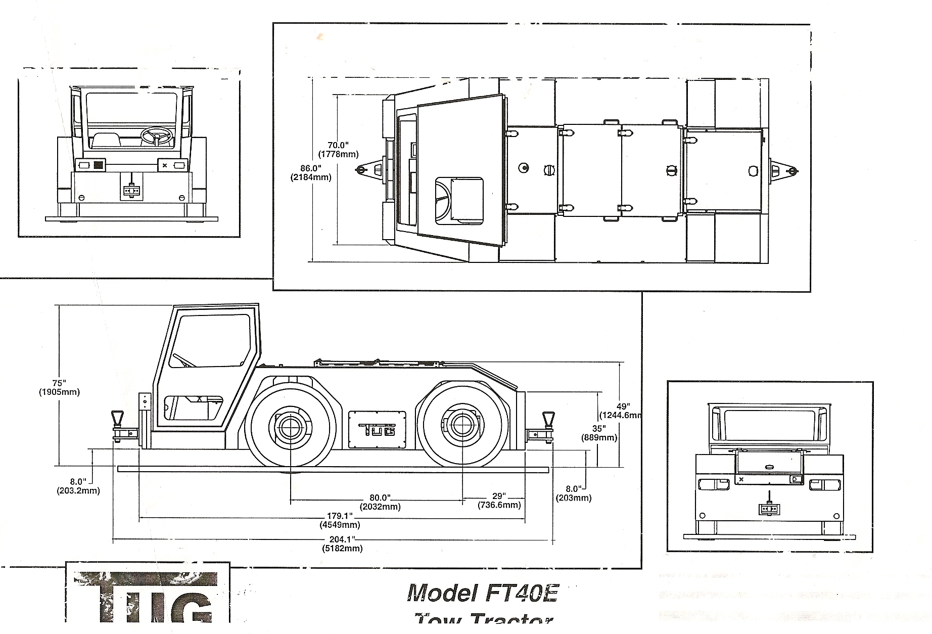 tractor trailer dimensions drawings