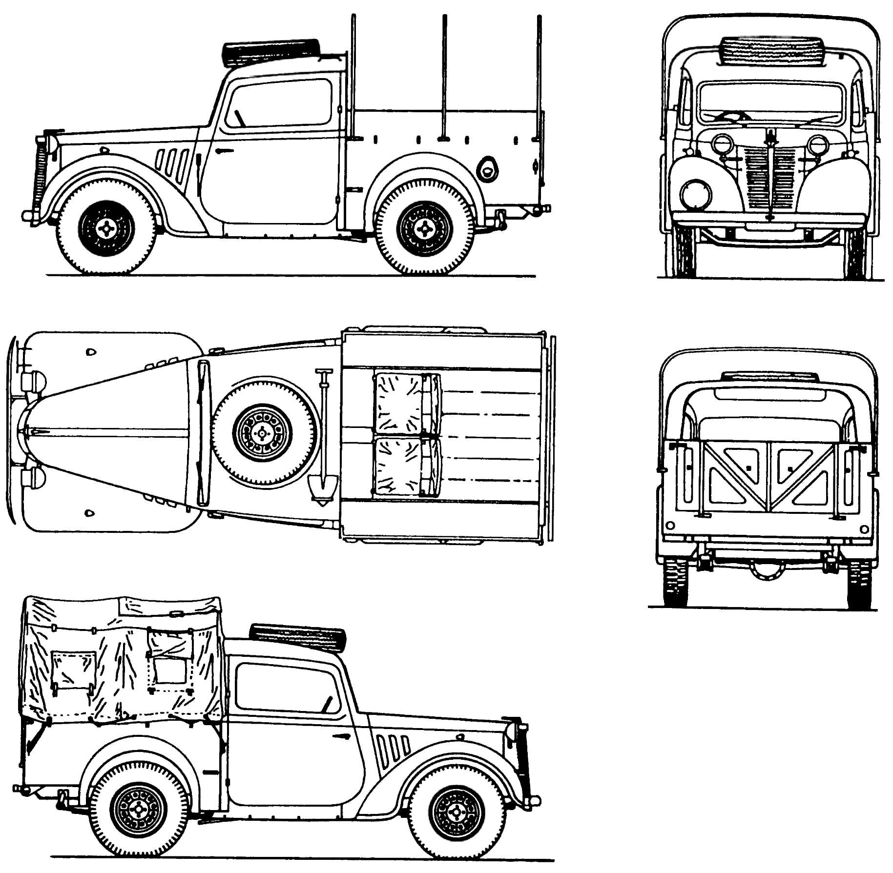 austin 10hp 1940 blueprint