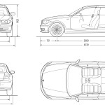 BMW 1 Series E81 blueprint