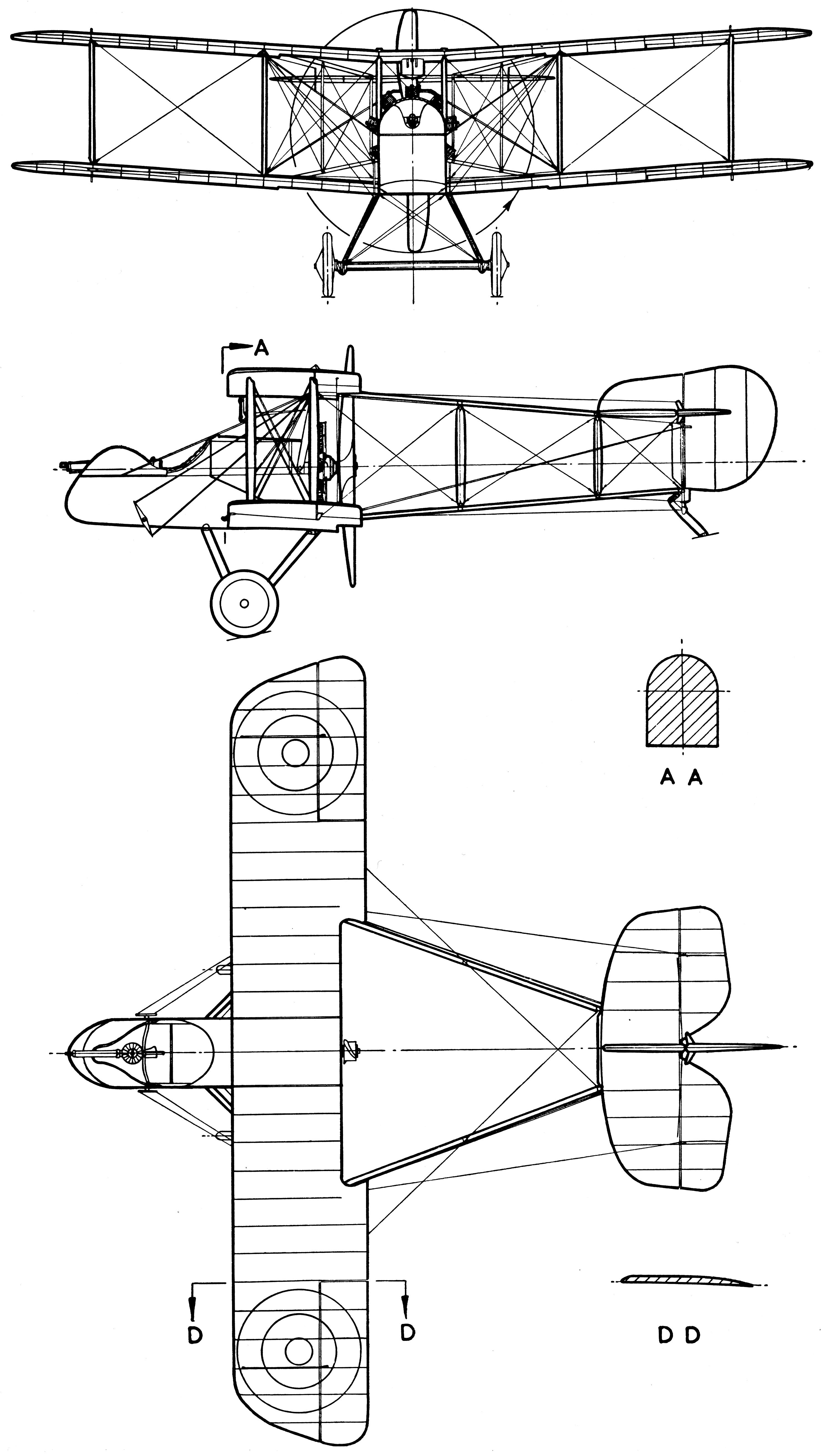 Airco DH.2 blueprint