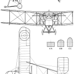 Royal Aircraft Factory F.E.2 blueprint