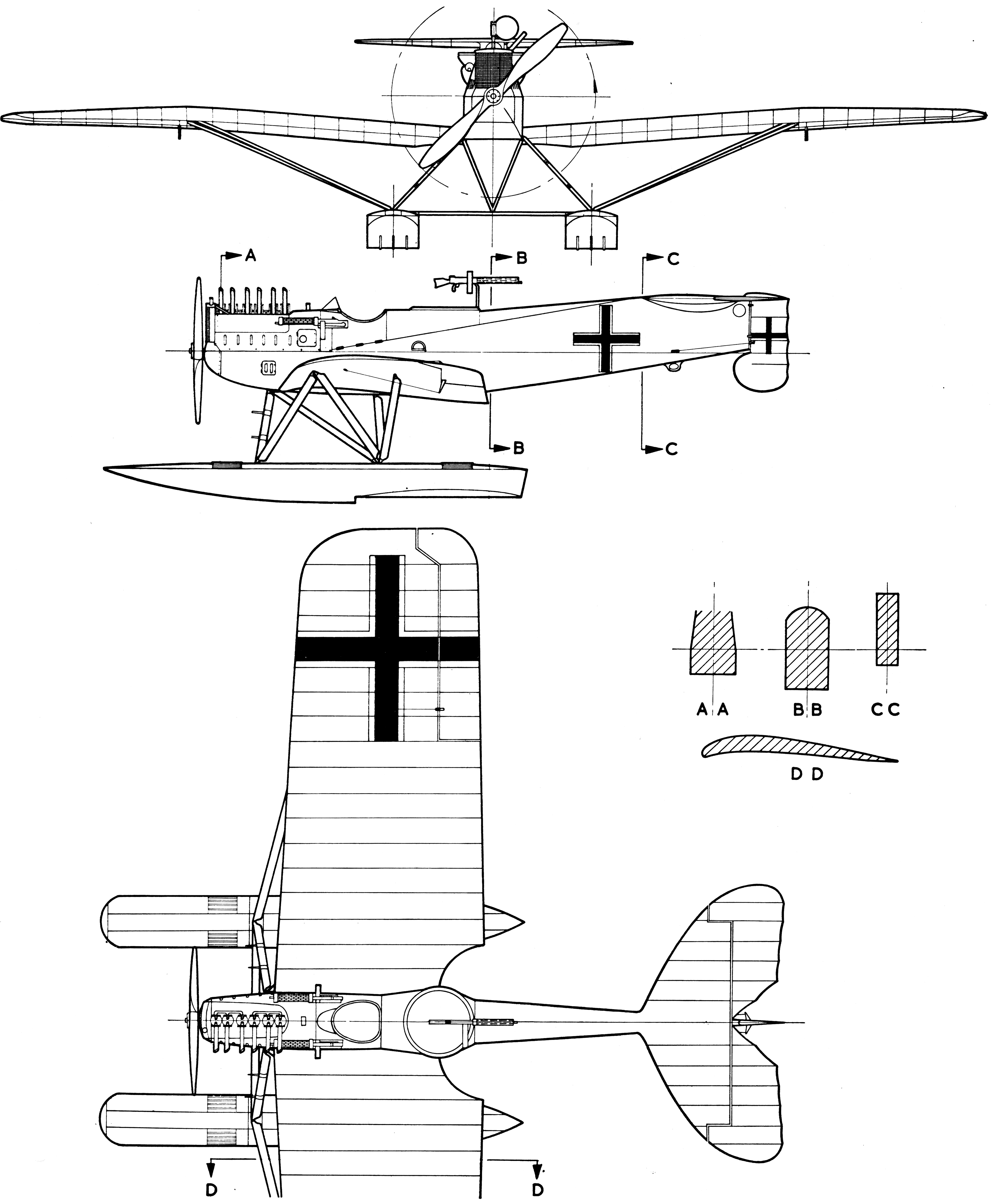 Hansa-Brandenburg W.29 blueprint