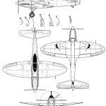Heinkel He 112 blueprint