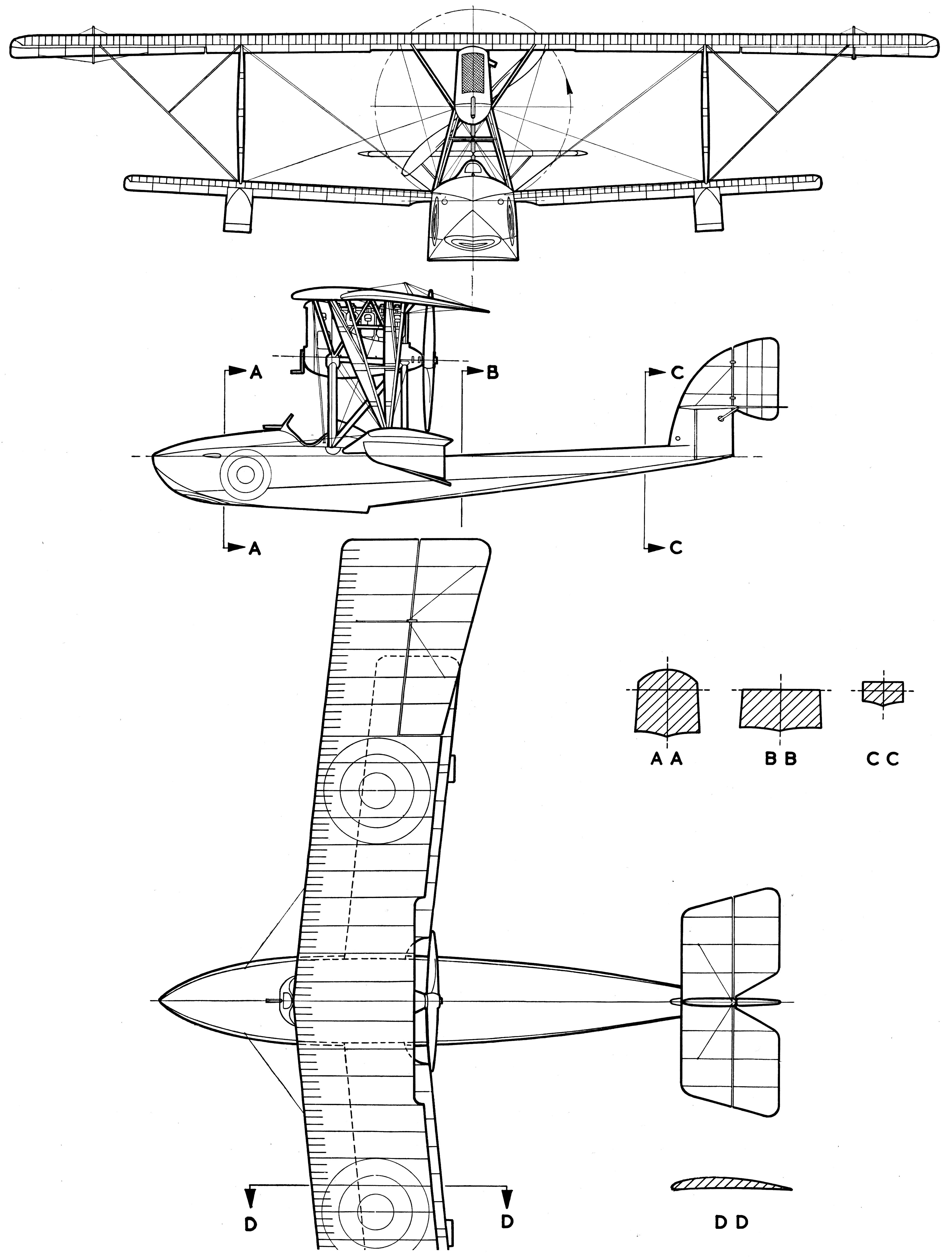 Macchi M.5 blueprint