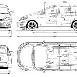 Mazda Premacy blueprint