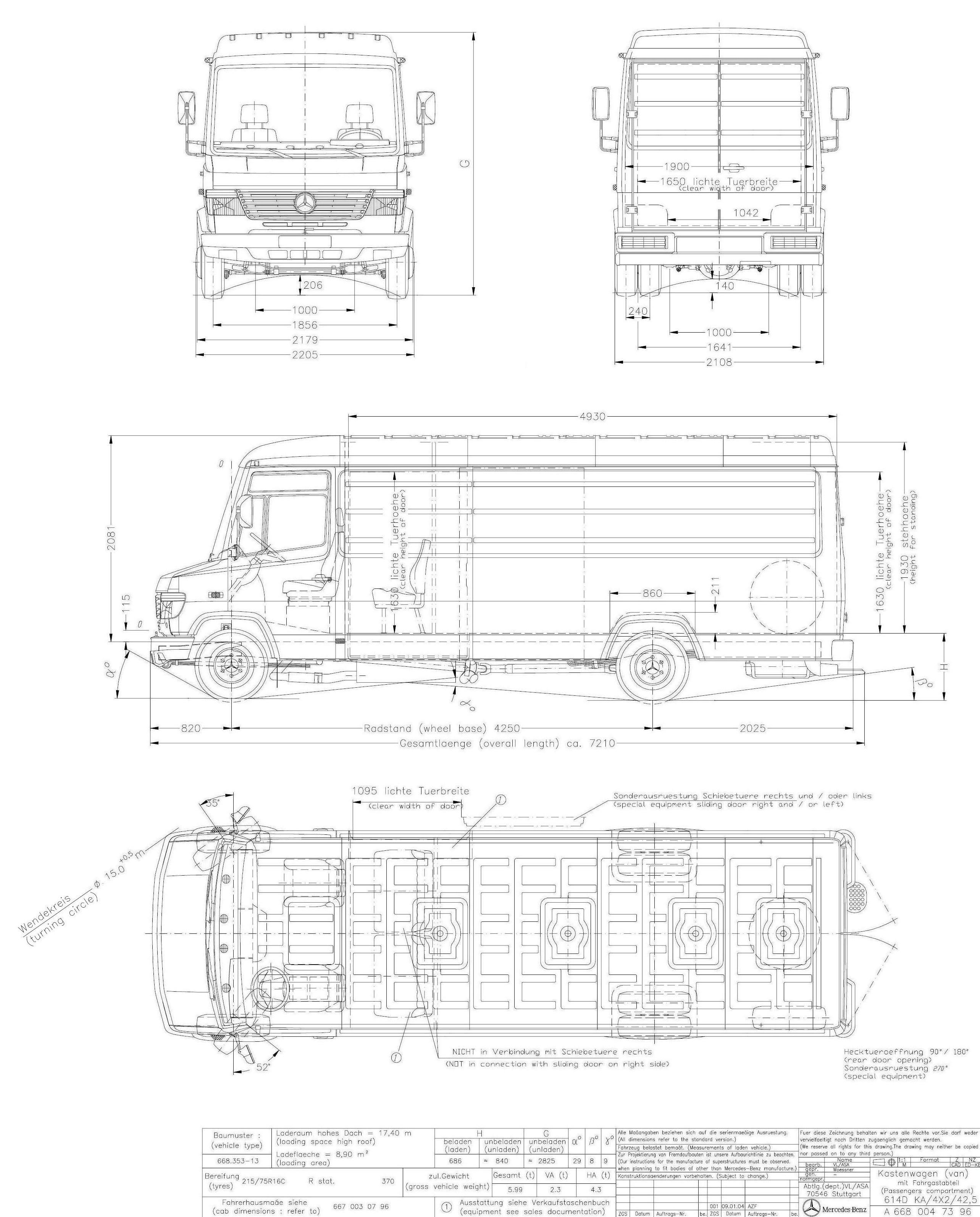 Mercedes benz vario 2004 blueprint download free for Mercedes plan