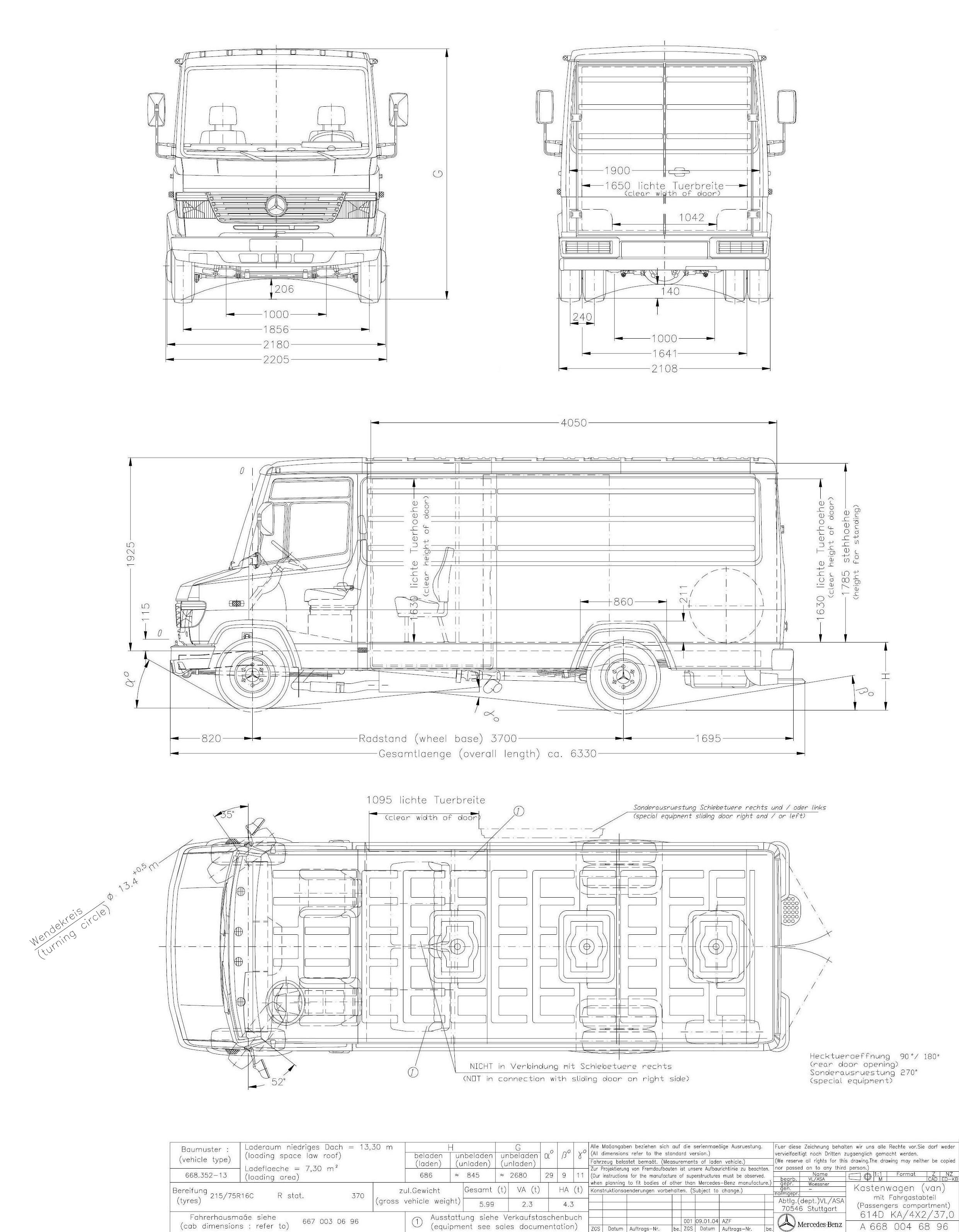 Mercedes-Benz Vario blueprint