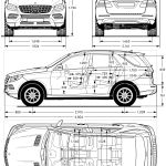 Mercedes-Benz ML 63 AMG blueprint