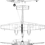 Messerschmitt Bf 110 blueprint