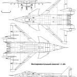 Mikoyan Project 1.44 blueprint