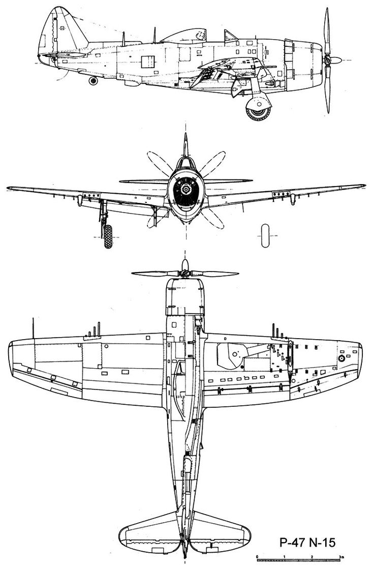Republic P-47 Thunderbolt blueprint