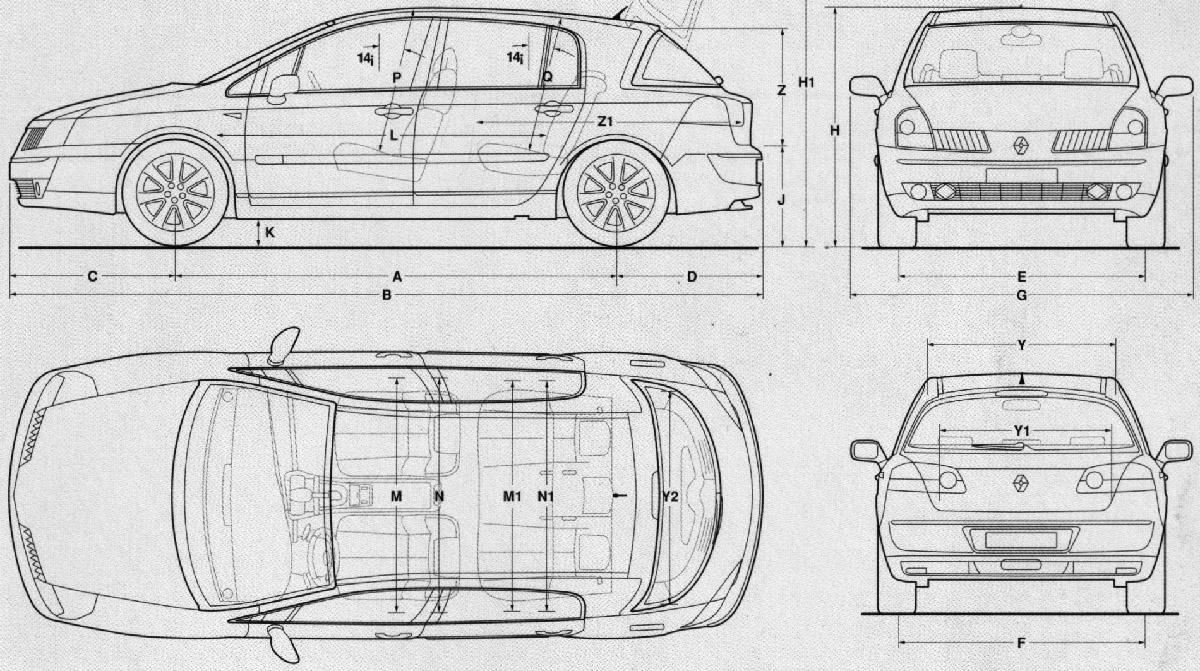 Renault Vel Satis blueprint