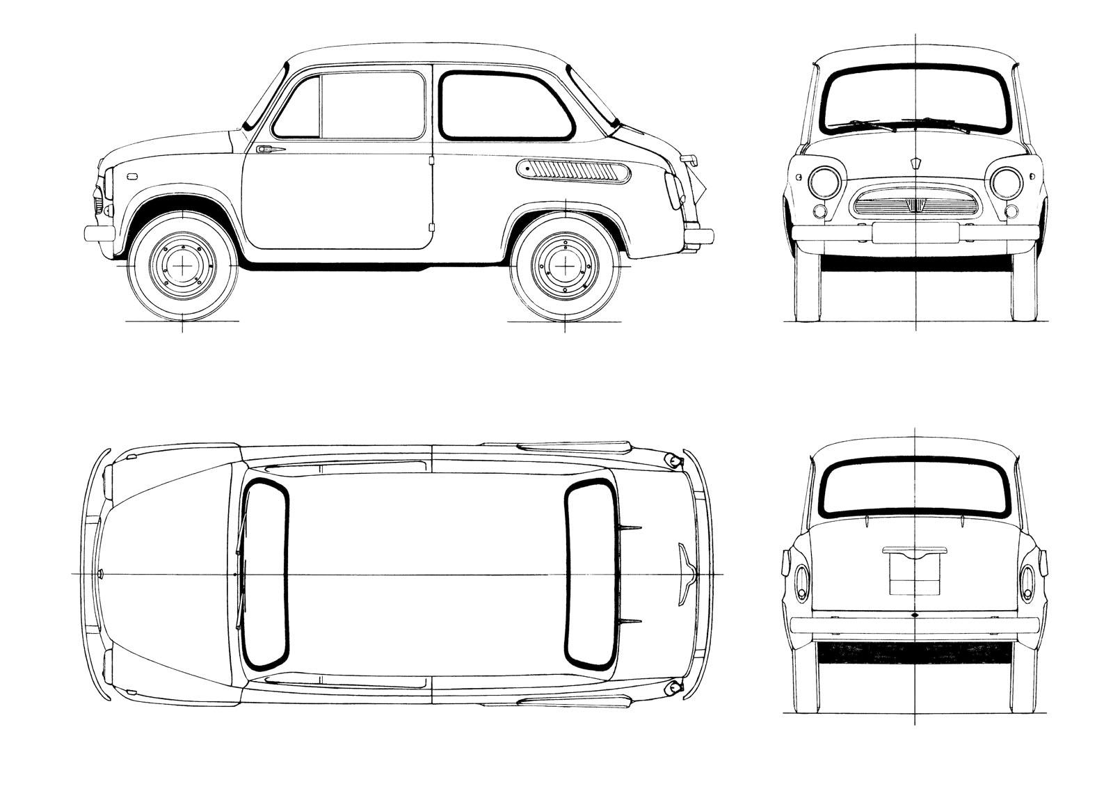 car blueprints lancia