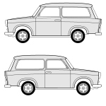 Trabant 601 blueprint