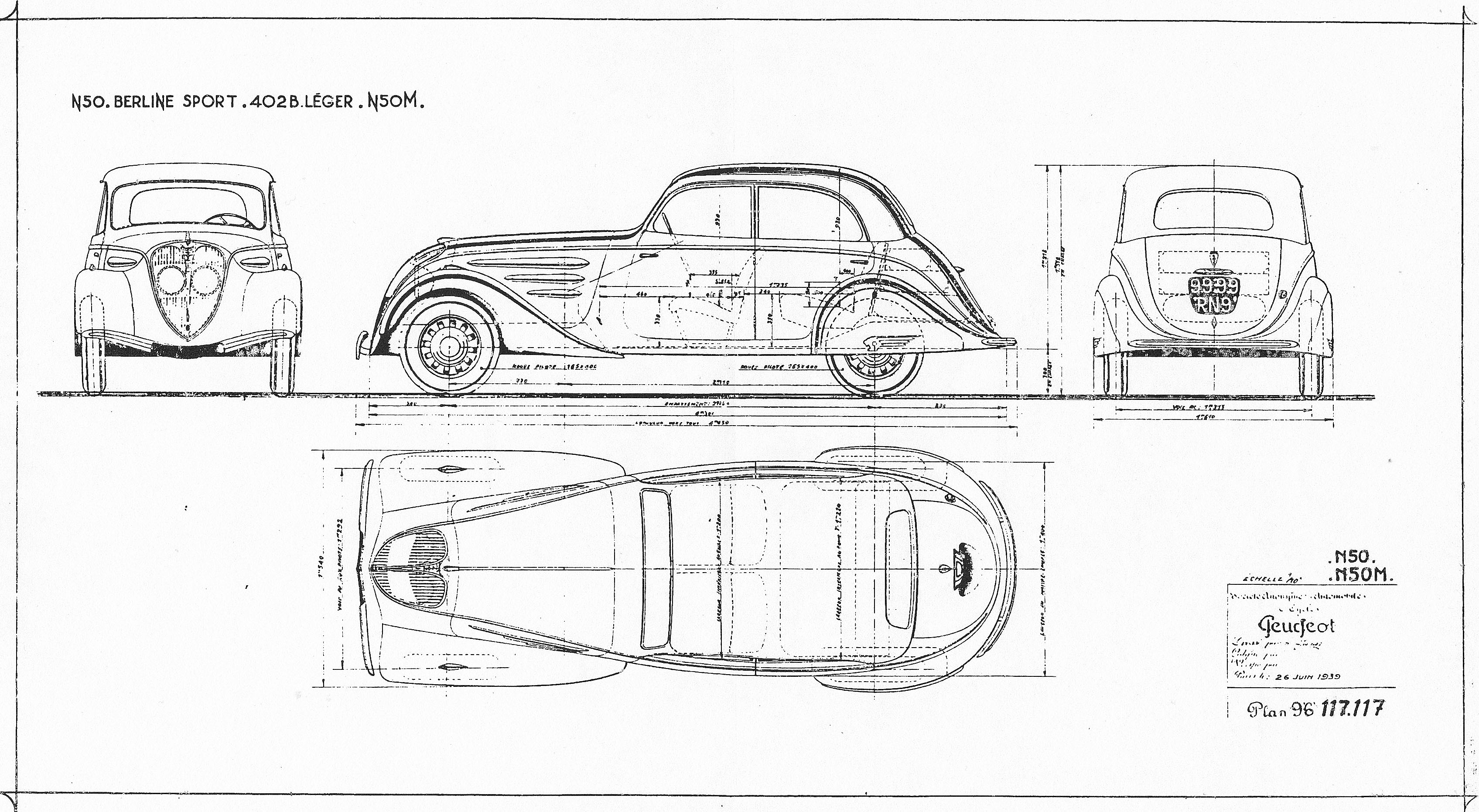Peugeot 402 Blueprint Download Free Blueprint For 3d