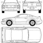 Ford Mustang GT blueprint