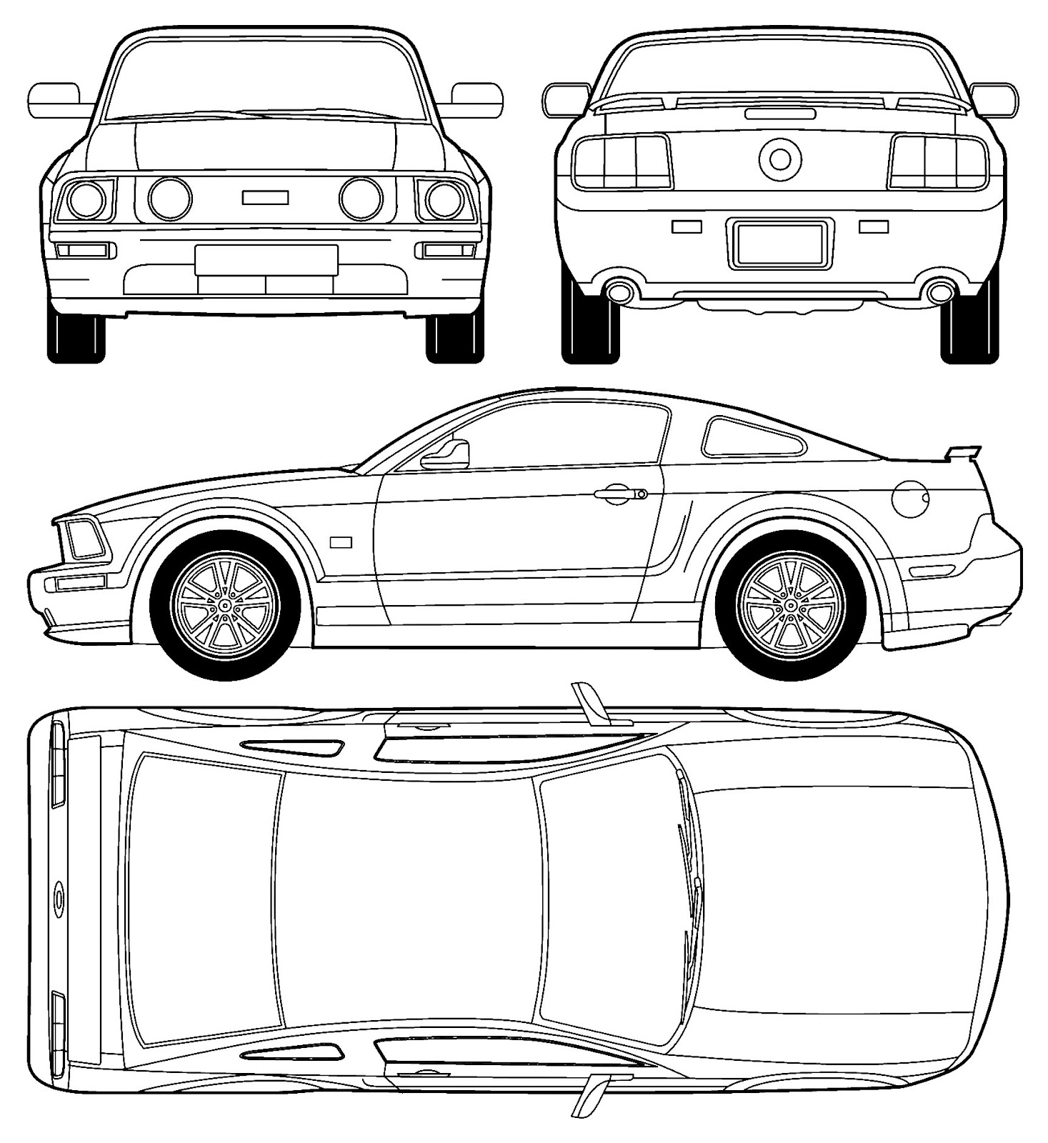 Ford Mustang GT blueprint