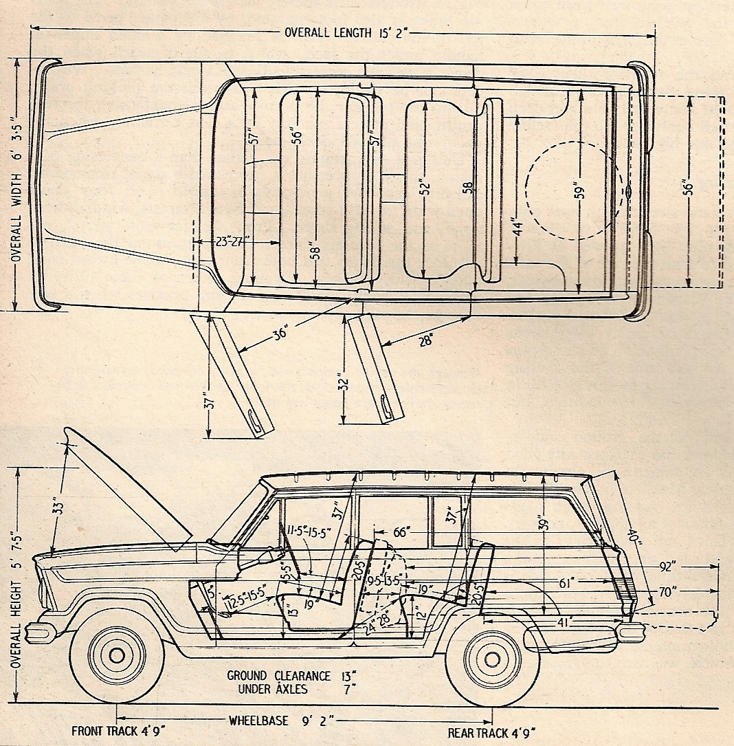 Jeep Wagoneer blueprint