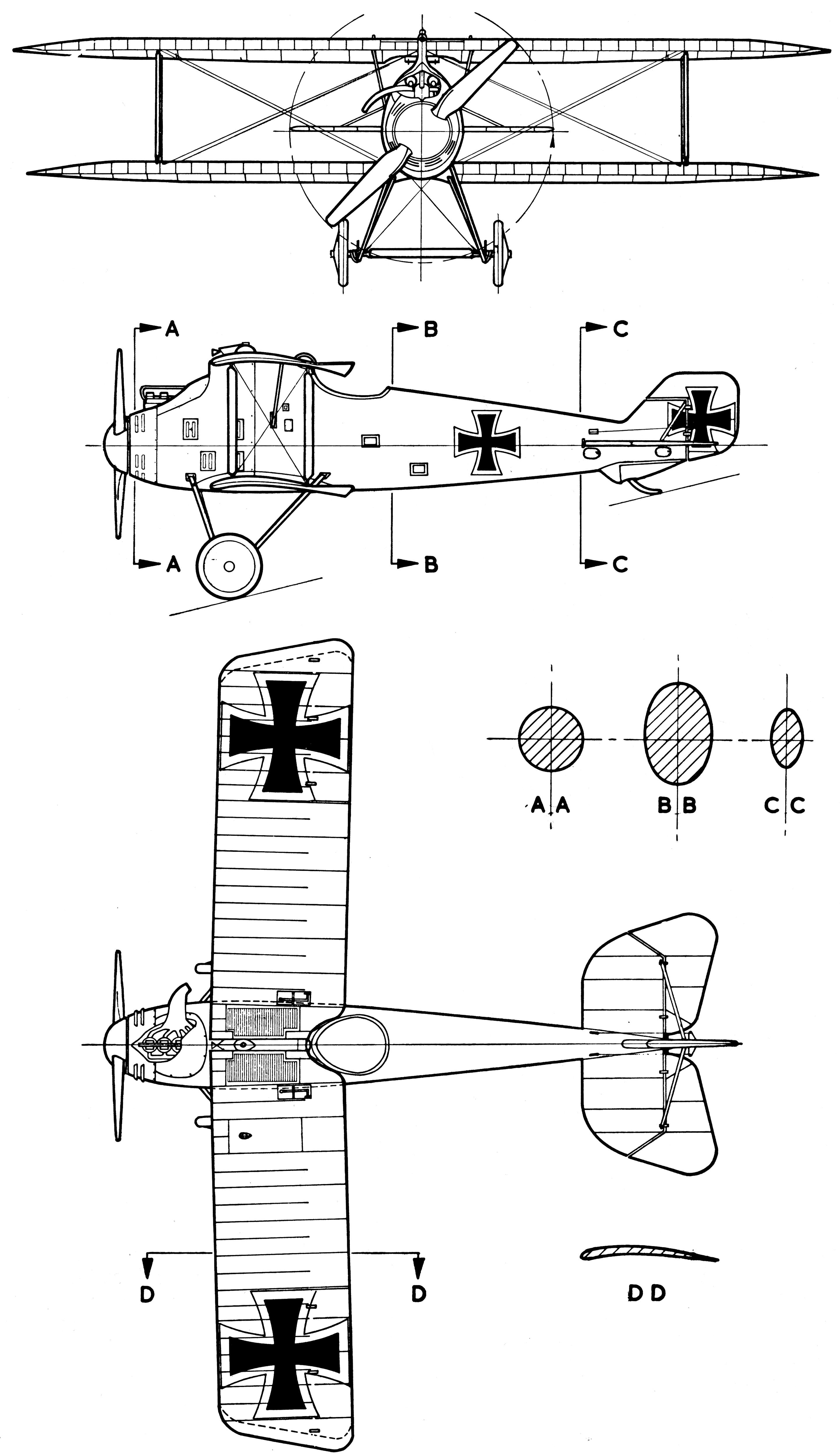 LFG Roland D.II blueprint
