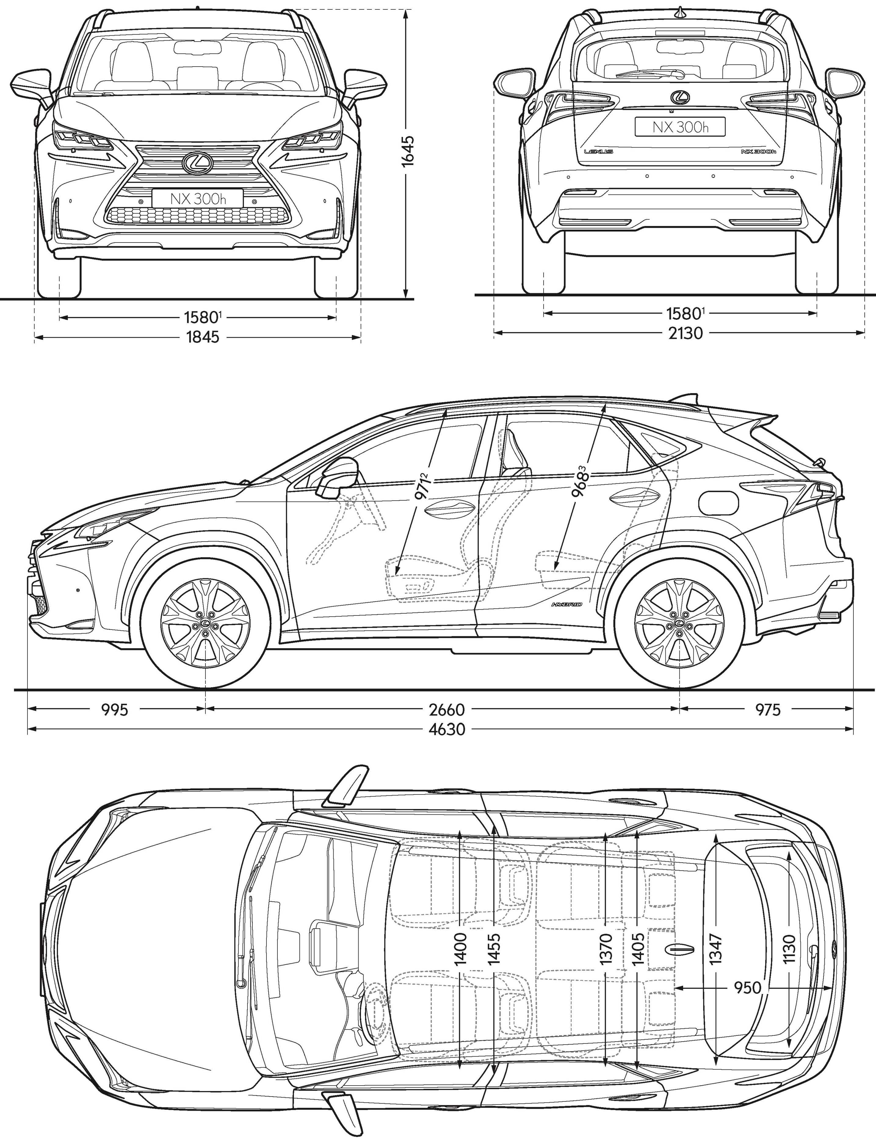 Lexus NX 300h blueprint