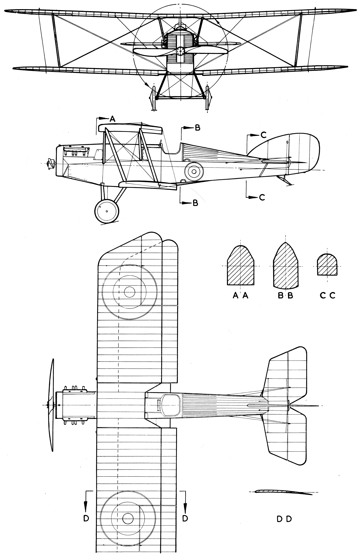 Martinsyde Buzzard blueprint