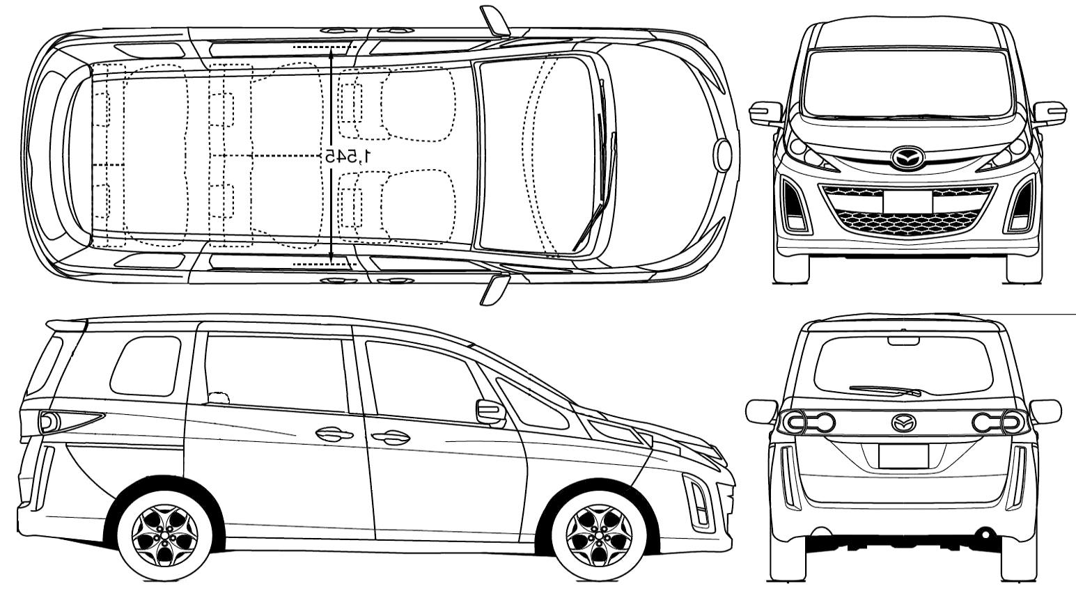 Mazda Biante blueprint