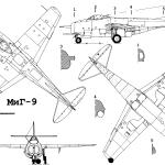 MiG-9 blueprint