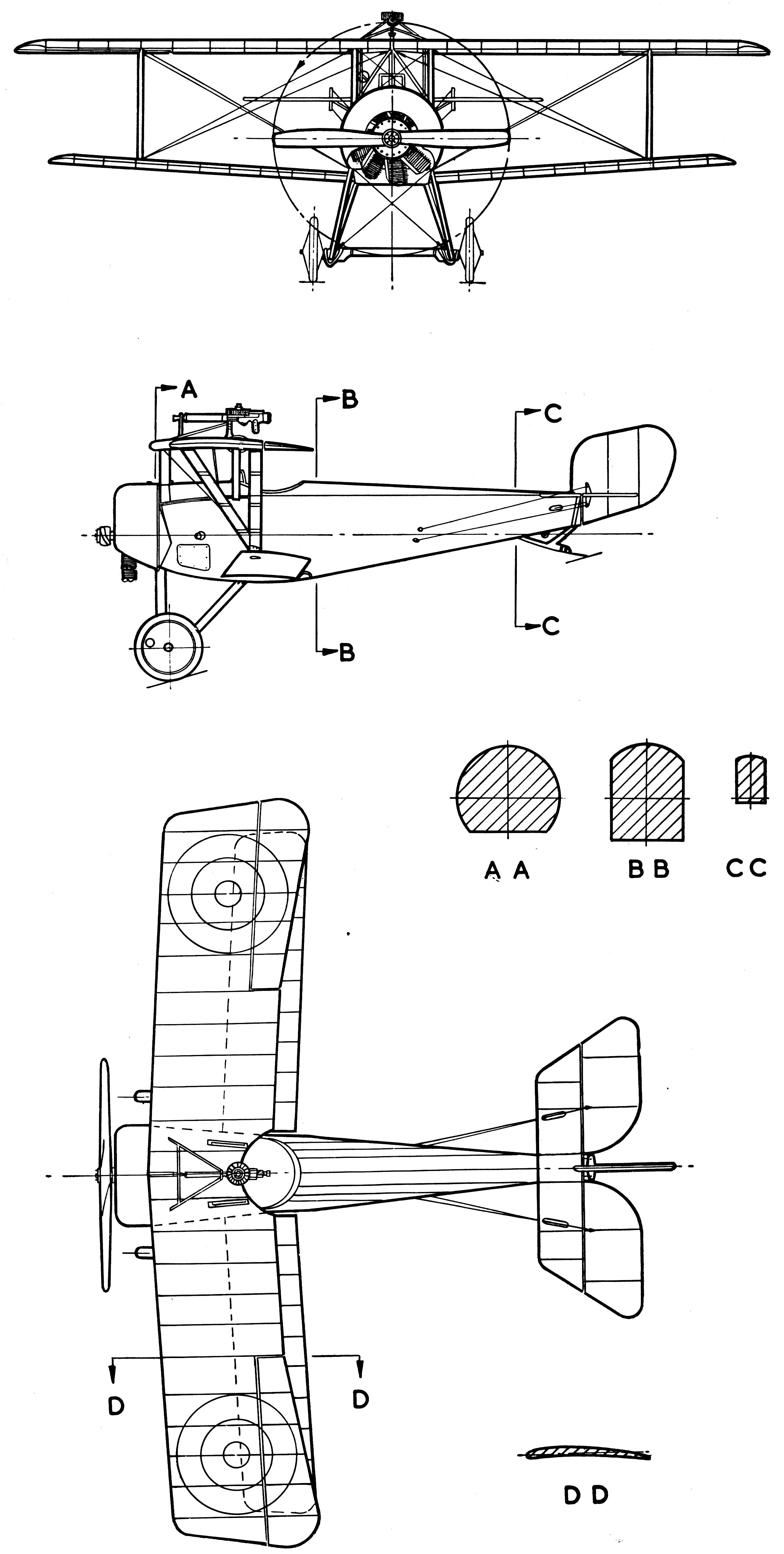 Nieuport 11 blueprint
