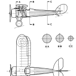Nieuport 28 blueprint