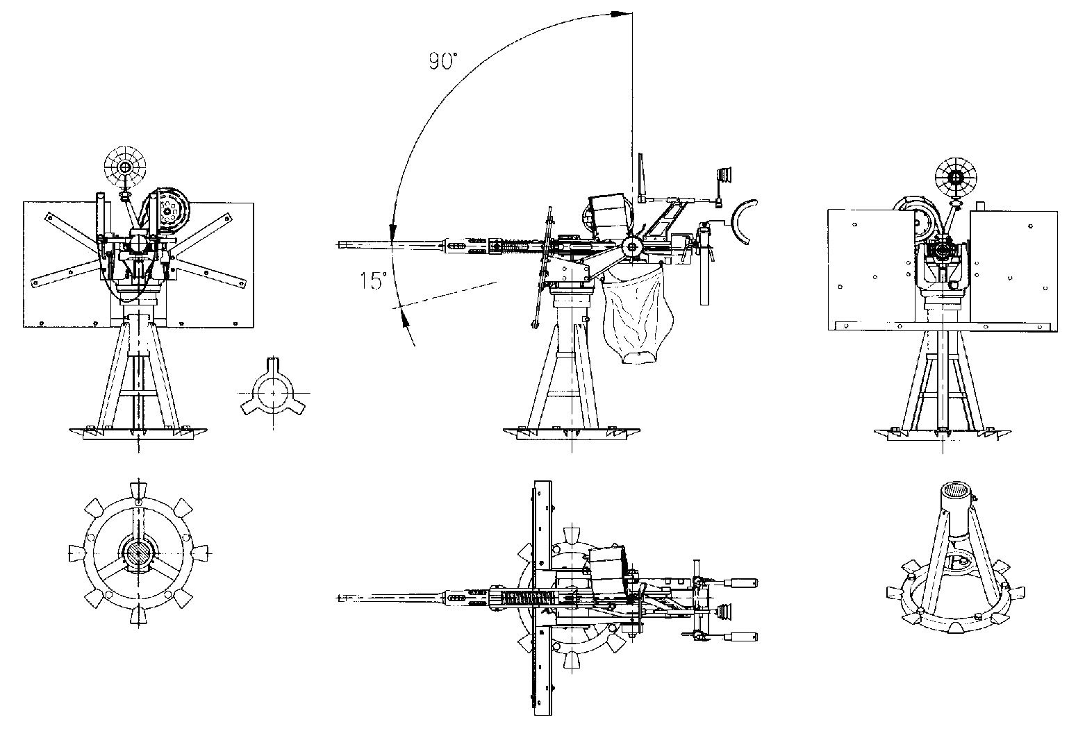 Oerlikon 20 mm cannon blueprint