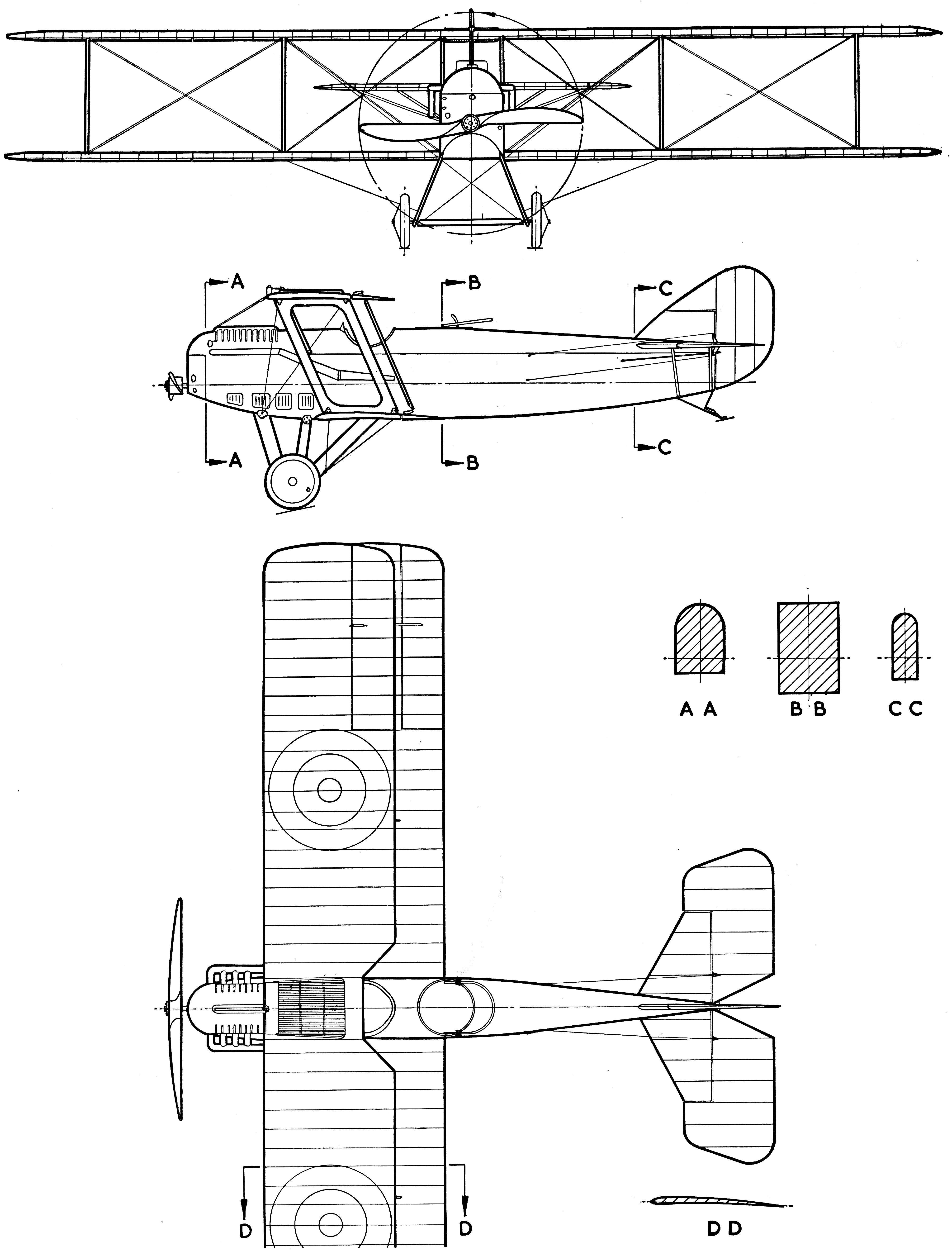 Packard-Le Père LUSAC-11 blueprint