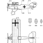 Pfalz D.XII blueprint