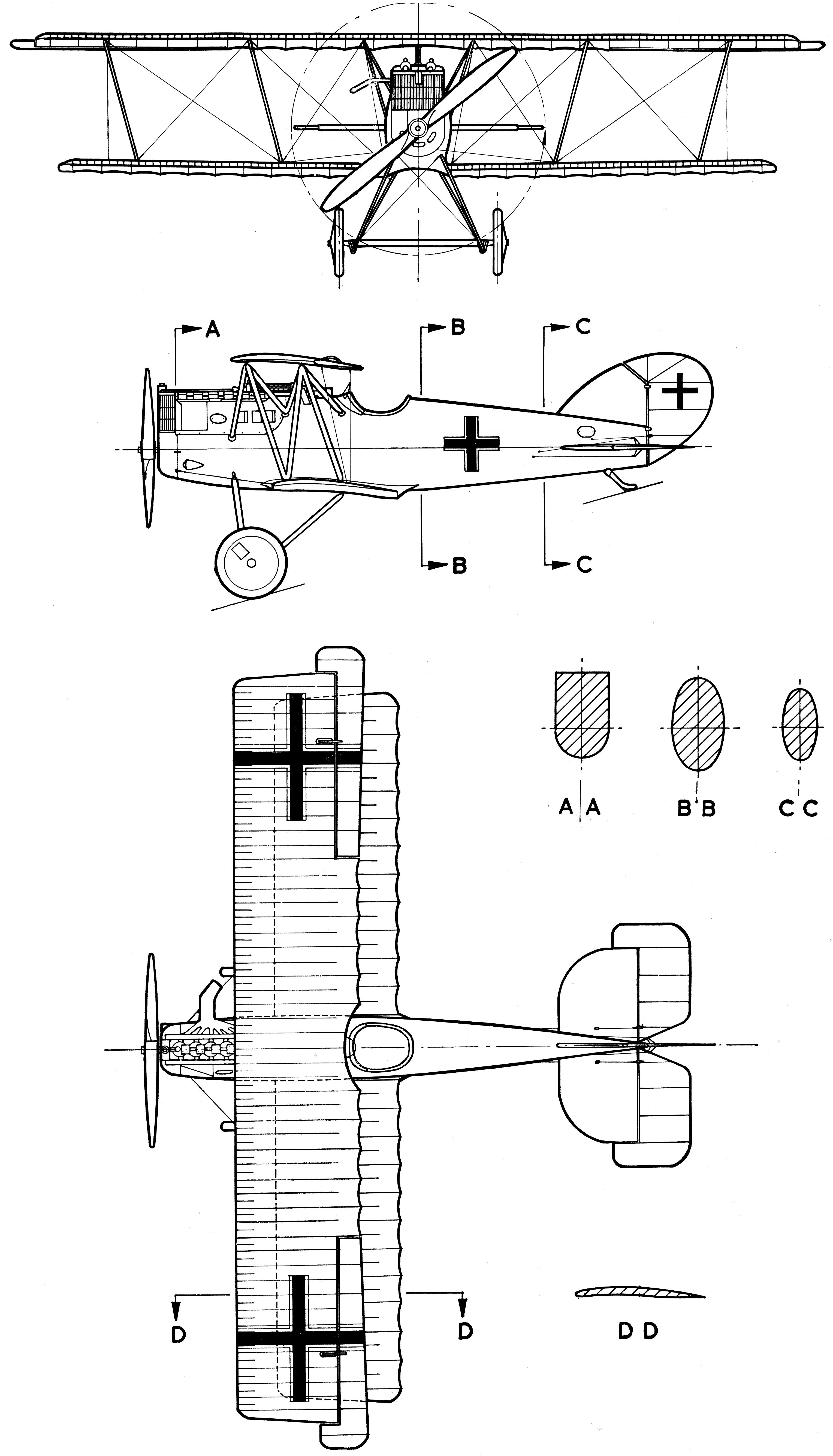 Pfalz D.XII blueprint