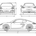 Porsche Cayman S blueprint