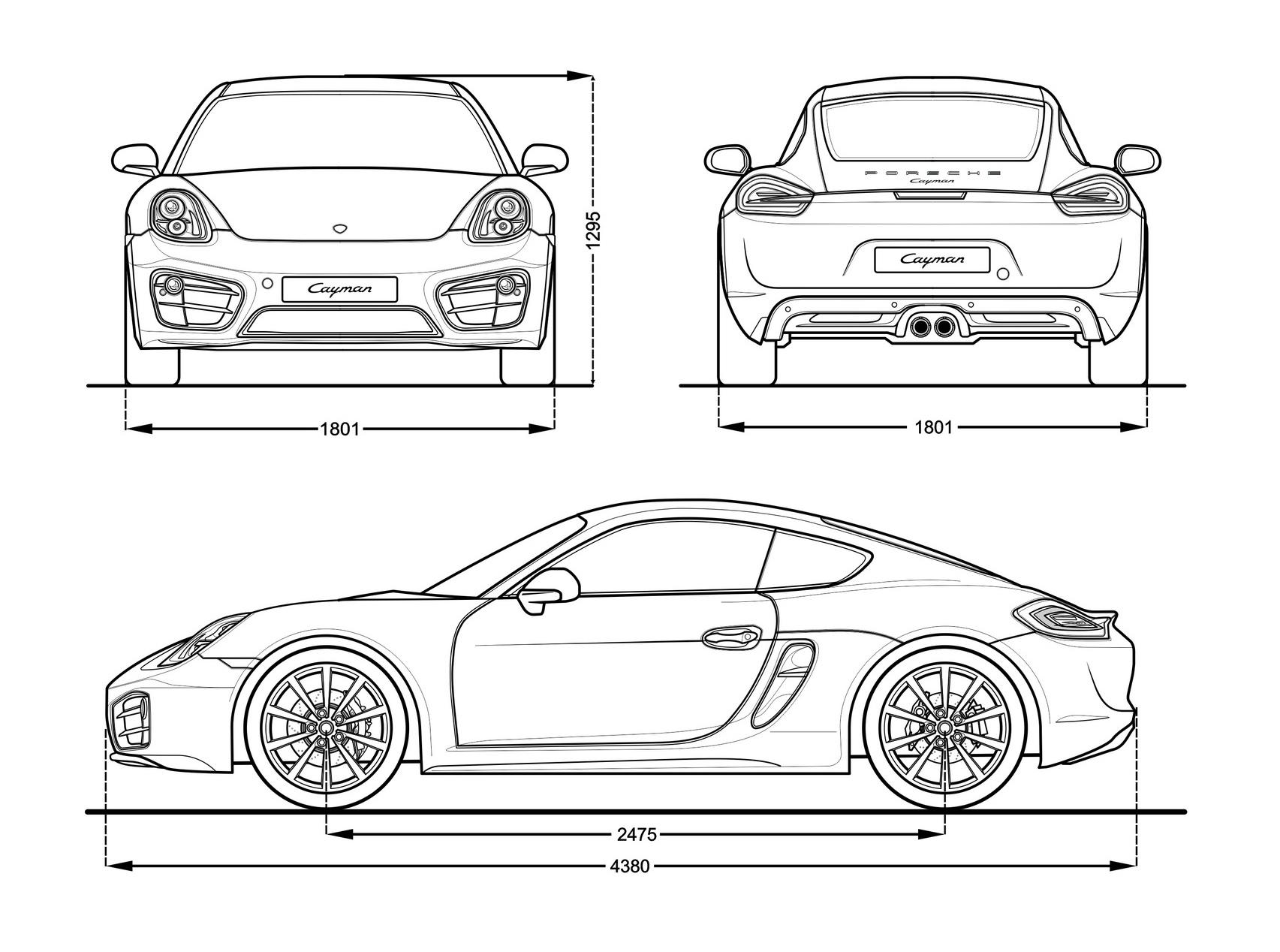 Porsche cayman s 2014 blueprint download free blueprint for 3d porsche cayman s blueprint malvernweather Gallery