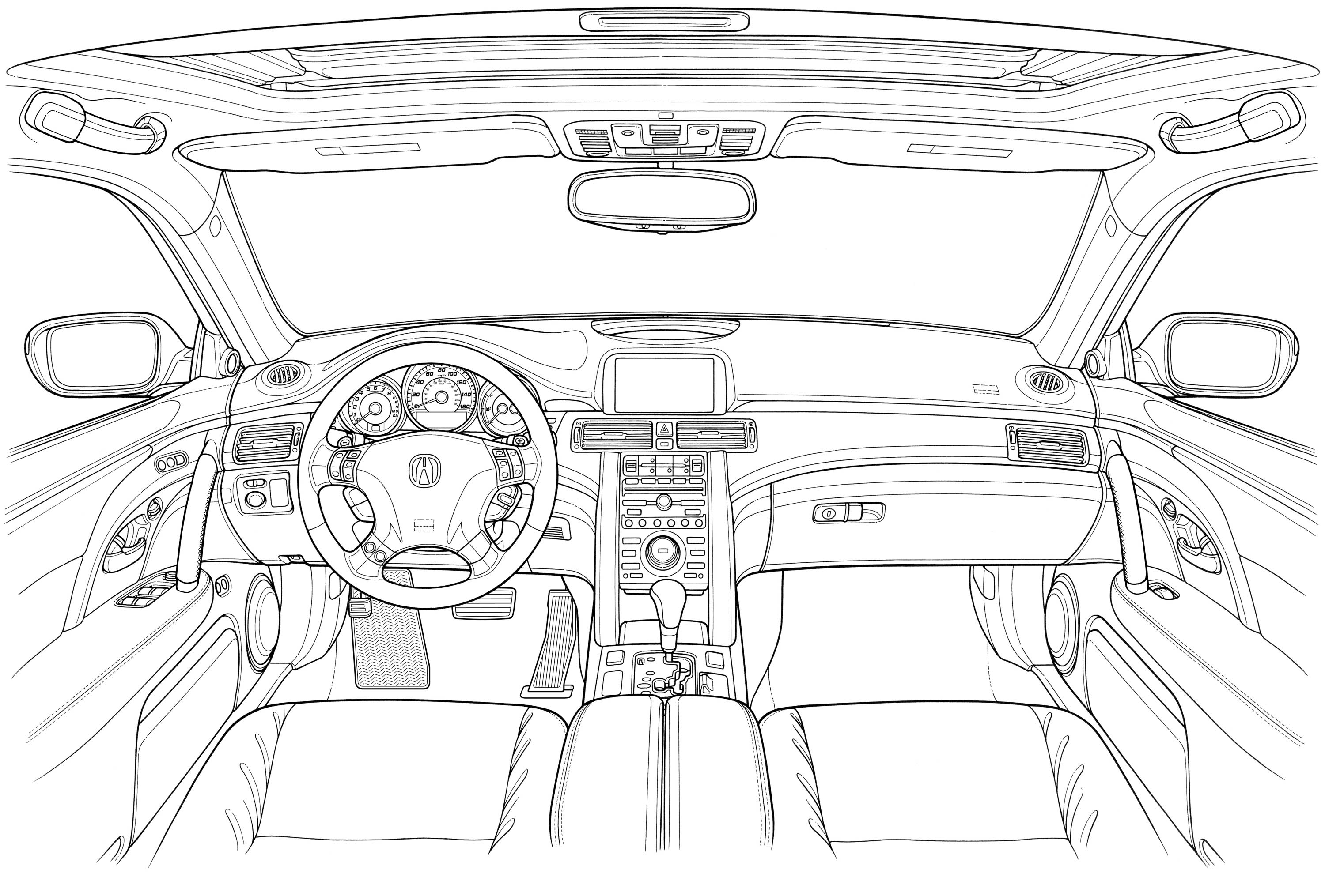 Acura Rl 2005 Blueprint Download Free Blueprint For 3d